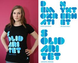 T-shirt: Solidaritet, Nykterhet, Demokrati (svart)