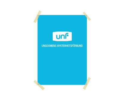 Affisch: UNF-logga