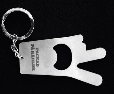 Kapsylöppnare och nyckelring